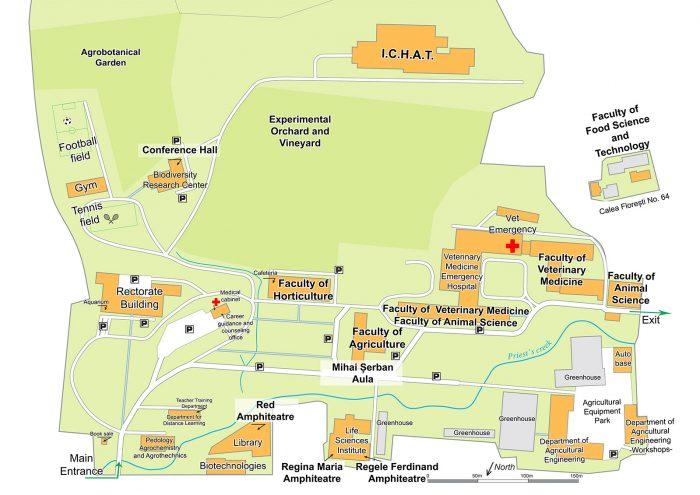 harta campus usamv cluj